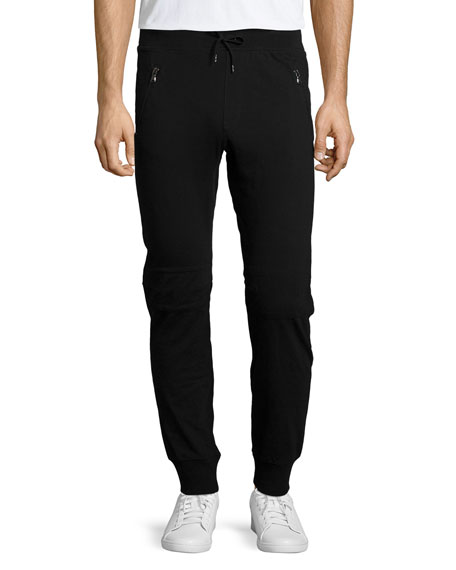 John Varvatos Star USA Moto Knit Jogger Pants,