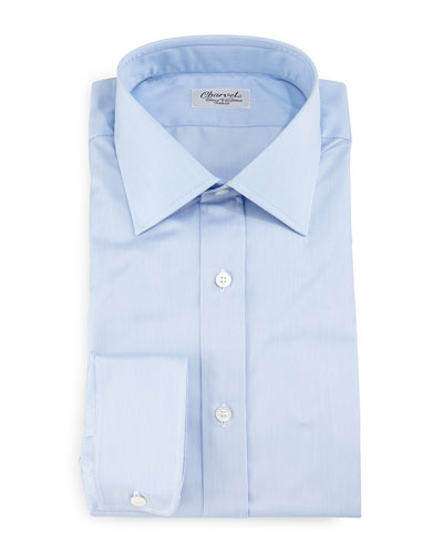 Thin-Striped Dress Shirt, Light Blue