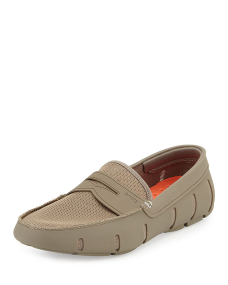 Swims Rubber Penny Loafer, Khaki