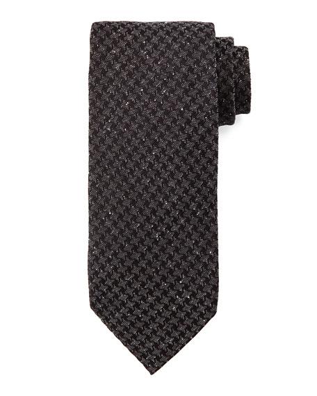 Geo-Houndstooth Tie, Black