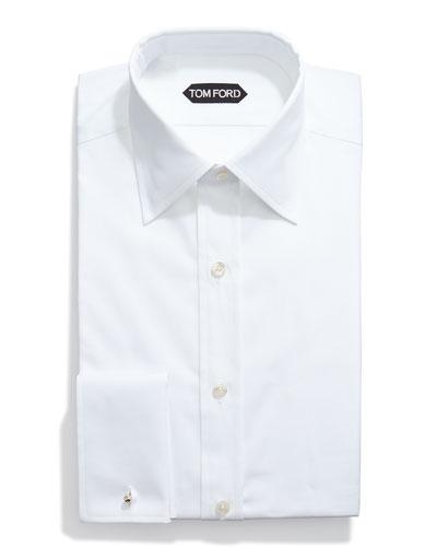 Basic French Cuff Dress Shirt, White