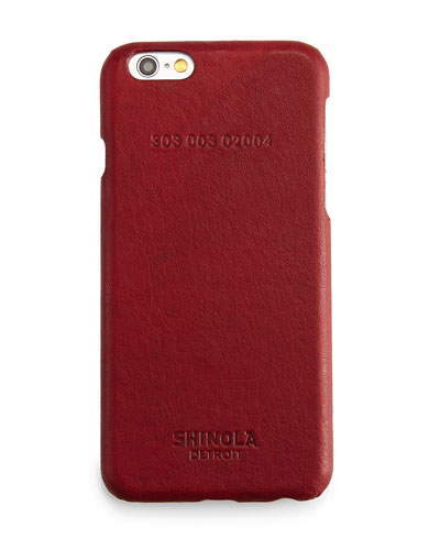 Leather-Wrapped iPhone 6 Case, Red
