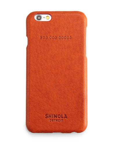 Leather-Wrapped iPhone 6 Case, Orange