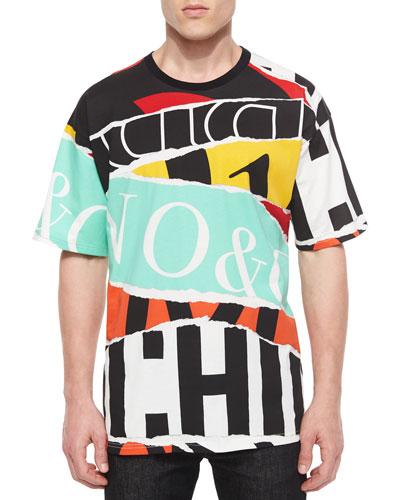 Short-Sleeve Logo-Stripe T-Shirt, Multicolor