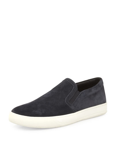 Barron Suede Slip-On Sneaker, Blue