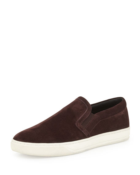 Vince Barron Suede Slip-On Sneaker, Dark Red