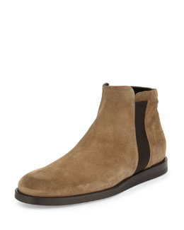 Hayes Gored Suede Boot, Flint