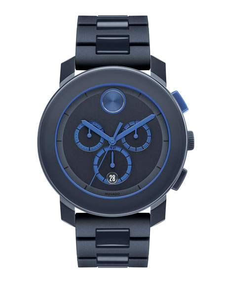 43.5mm Bold Chronograph Watch, Navy