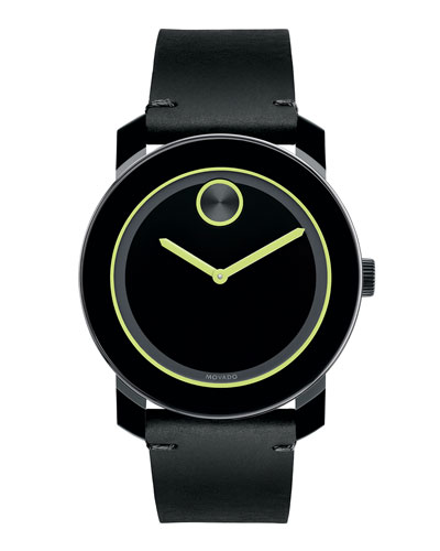 42mm Bold Watch, Black/Green