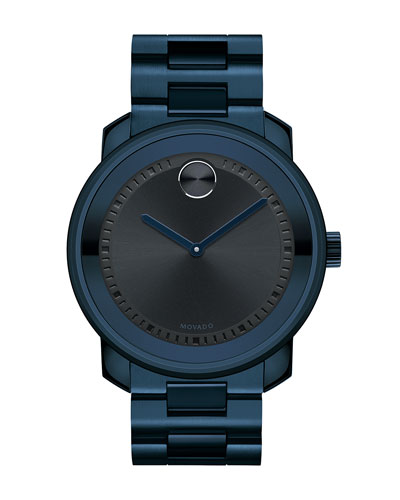 42.5mm Ink-Blue Stainless Steel Watch