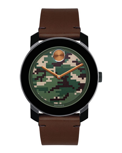 42mm Bold Watch, Brown/Green