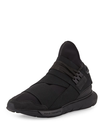 Qasa High-Top Trainer Sneaker, Black