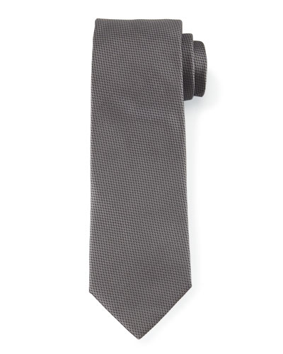 Solid Silk Tie, Charcoal