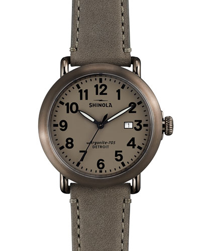 41mm Runwell Topaz Watch, Gray