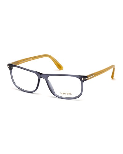 Shiny Acetate Eyeglasses, Blue