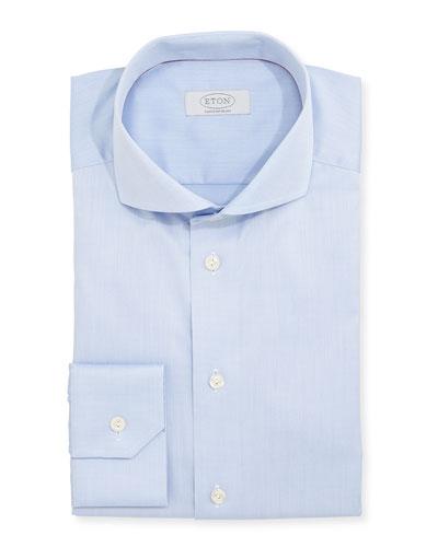 Contemporary-Fit Solid Dress Shirt, Light Blue