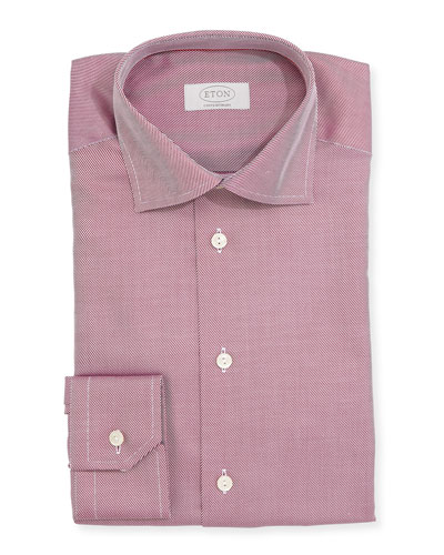 Contemporary-Fit Textured Solid Dress Shirt, Purple
