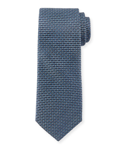 3D-Triangle Neat Tie, Navy