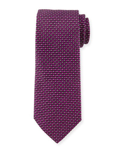 3D-Triangle Neat Tie, Purple
