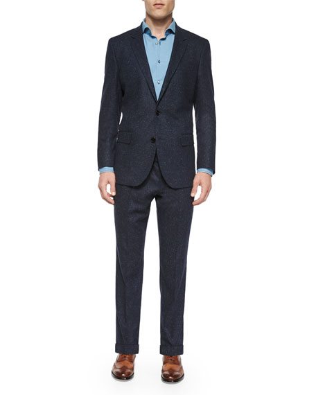 Boss Hugo Boss Donegal Two-Piece Wool Suit, Navy