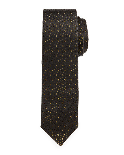 Textured Silk Tie, Black