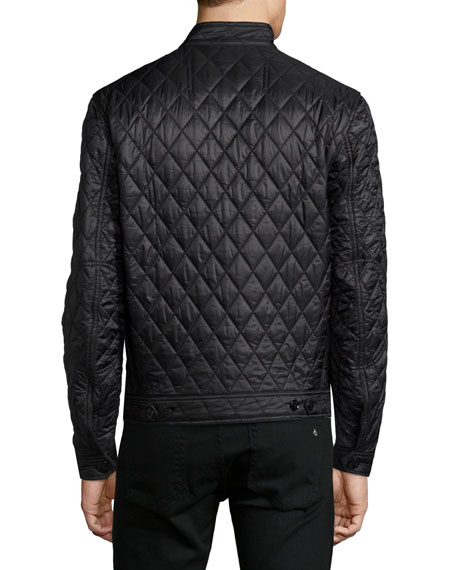 Burberry Brit Howson Diamond-Quilted Jacket, Black : burberry diamond quilted jacket sale - Adamdwight.com