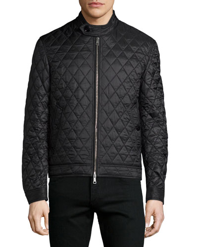 Howson Diamond-Quilted Jacket, Black