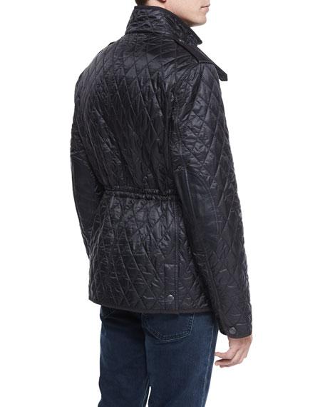 Burberry Russell Diamond-Quilted Field Jacket, Black | Neiman Marcus : burberry diamond quilted jacket sale - Adamdwight.com