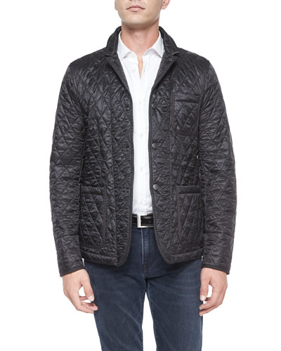 Howe Quilted Sport Jacket, Black