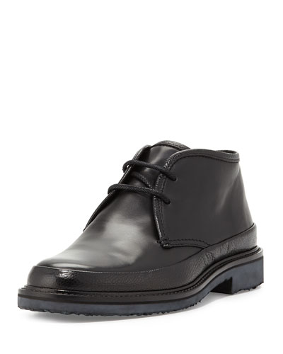 Trivero Leather Chukka Boot, Black
