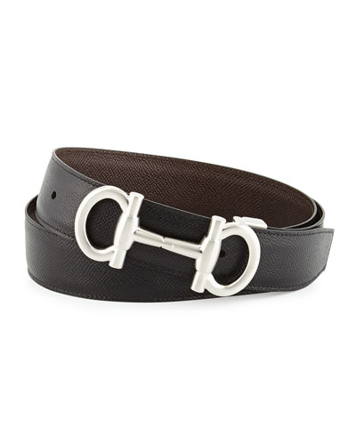 Mason Reversible Leather Belt, Black/Brown