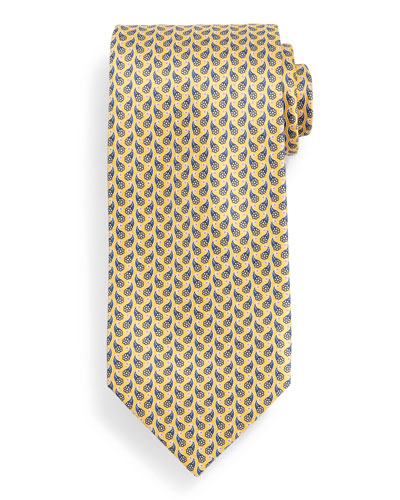 Flower Paisley Neat Tie, Yellow
