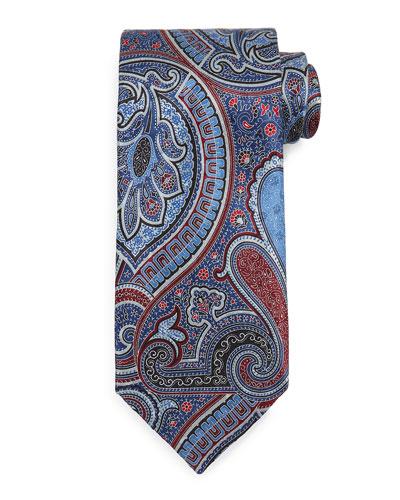 Paisley Pattern Tie, Navy