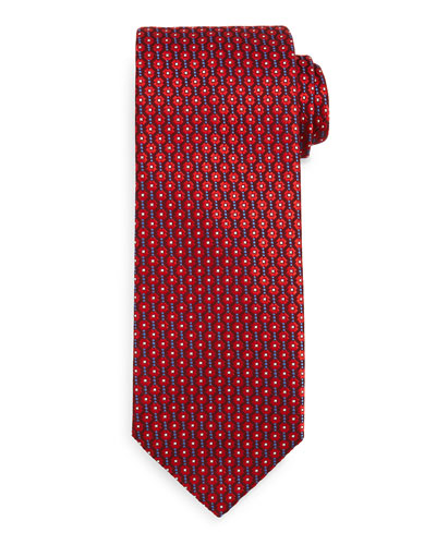 Connecting Circle Neat Tie, Red