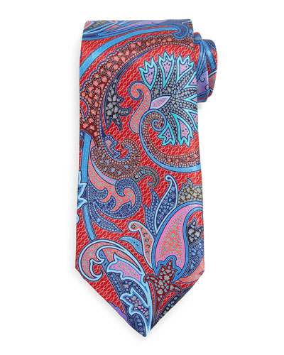 Quindici Paisley Tie, Red