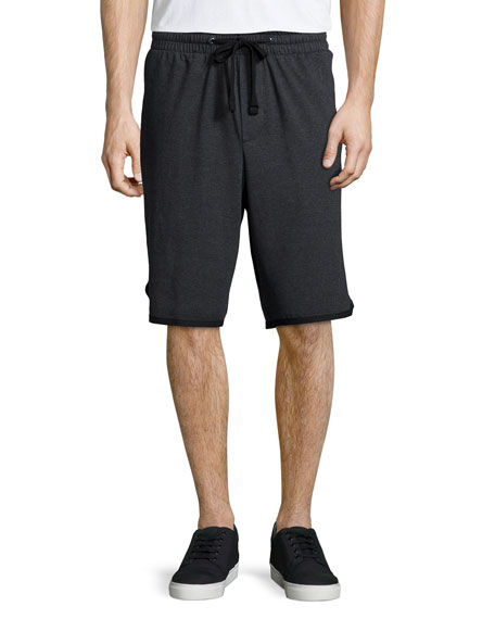 James Perse Vintage Knit Basketball Shorts, Black
