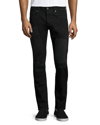 3301 Slim Restored Denim Jeans, Black