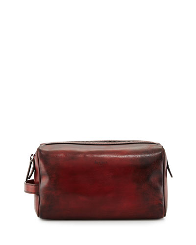 Matinee Leather Toiletry Kit, Red