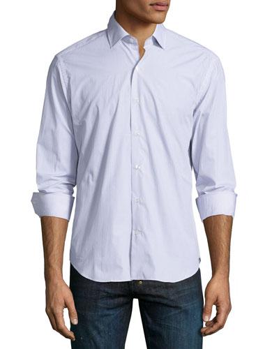 Mini-Medallion Print Long-Sleeve Shirt, Multi
