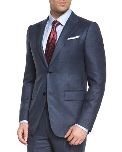 Trofeo Birdseye Two-Piece Suit, Blue