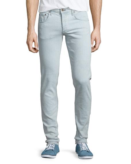 Rag & Bone Bleached Slim-Fit Denim Jeans, White Water