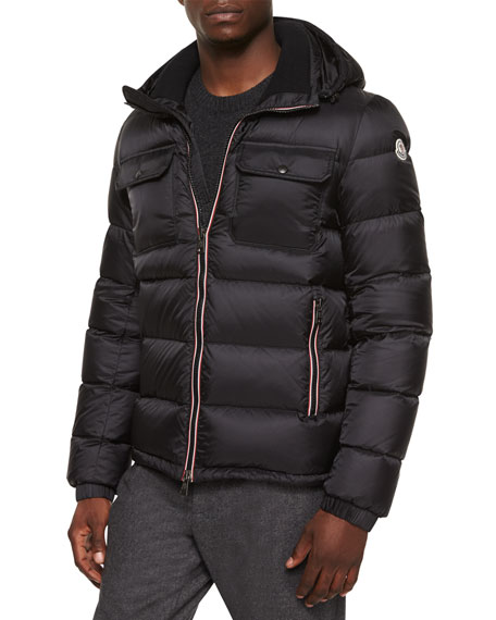 Moncler Demar Quilted Puffer Jacket, Black