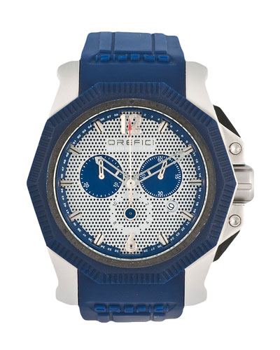 Diver Rubber Bezel Watch, Blue