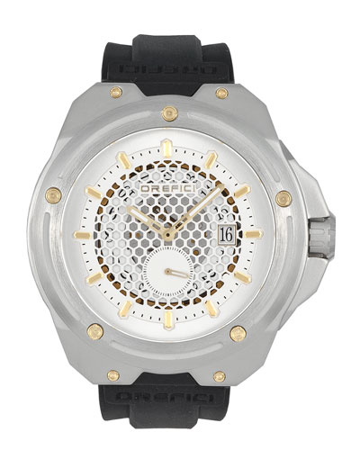 48mm M15 Special Edition Watch, Silver/Black