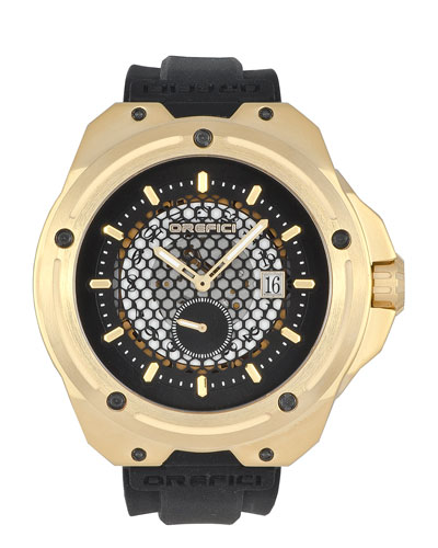 48mm M15 Special Edition Watch, Black/Gold