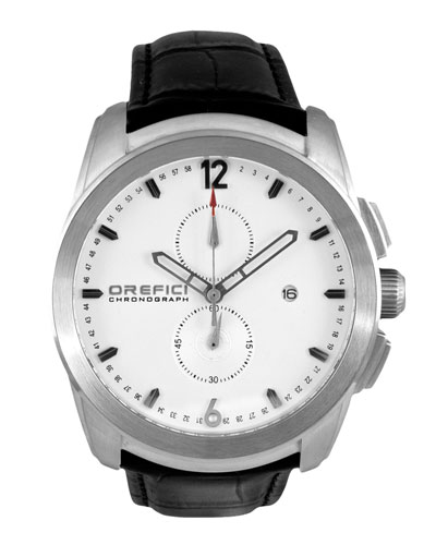 Classico Chronograph Watch with Leather Strap