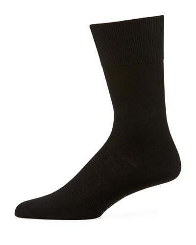 Firenze Solid Knit Socks, Brown