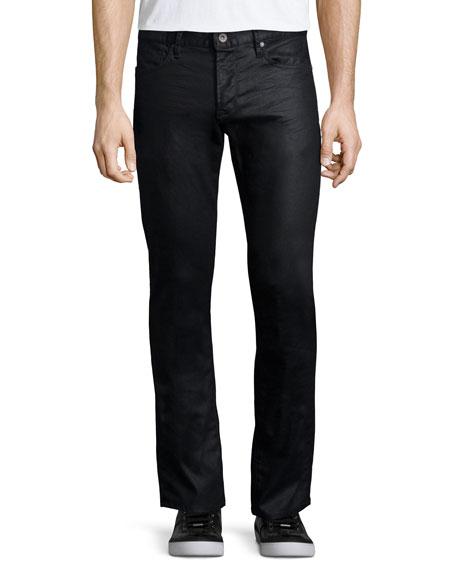 John Varvatos Star USA Shiny Straight-Leg Jeans, Navy