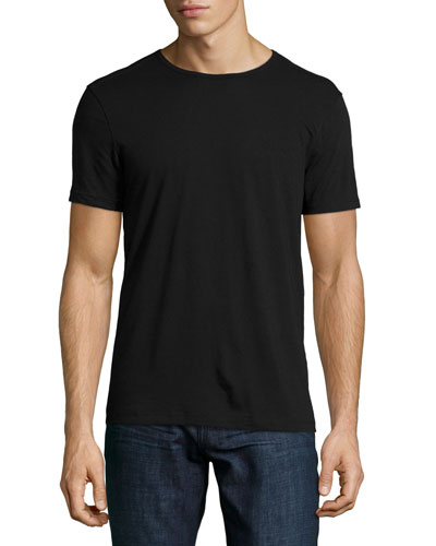Short-Sleeve Crewneck Tee, Black