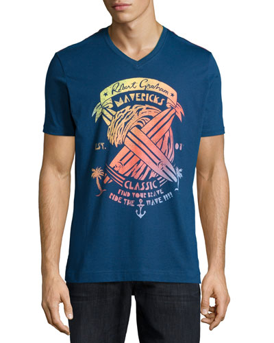 Mavericks Short-Sleeve Graphic Tee, Navy